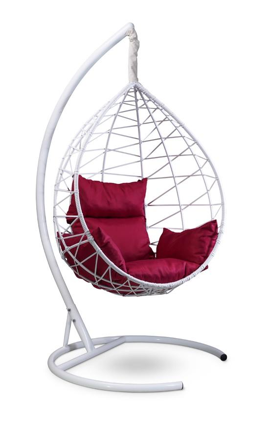 Фото №5 Подвесное кресло-кокон ALICANTE белое + каркас