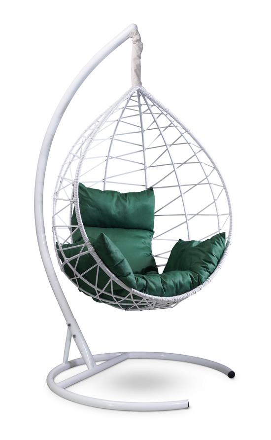 Фото №6 Подвесное кресло-кокон ALICANTE белое + каркас