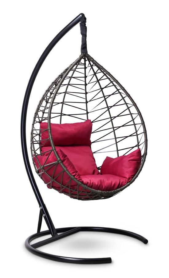Фото №5 Подвесное кресло-кокон ALICANTE черное с золотом + каркас
