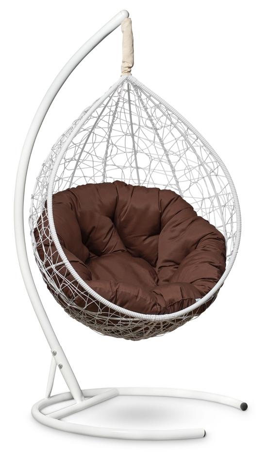 Фото №2 Подвесное кресло SEVILLA VERDE белое + каркас