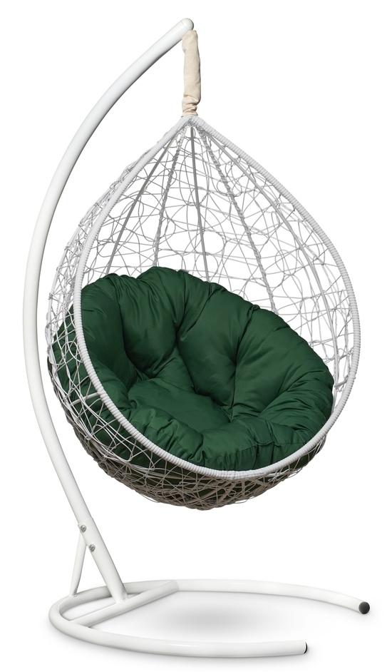 Фото №6 Подвесное кресло SEVILLA VERDE белое + каркас