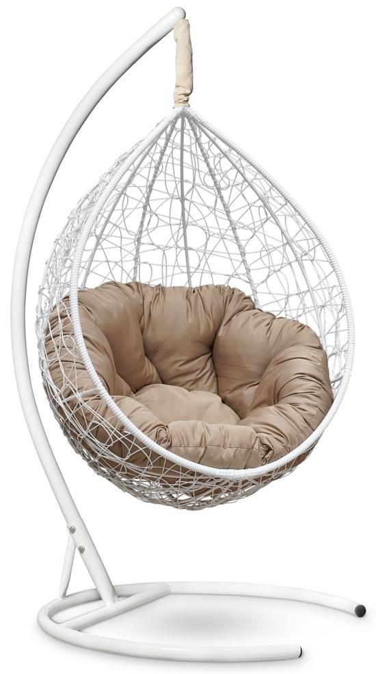 Фото №4 Подвесное кресло SEVILLA VERDE белое + каркас