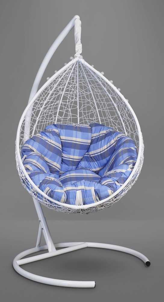 Подвесное кресло SEVILLA VERDE белоснежное + каркас фото