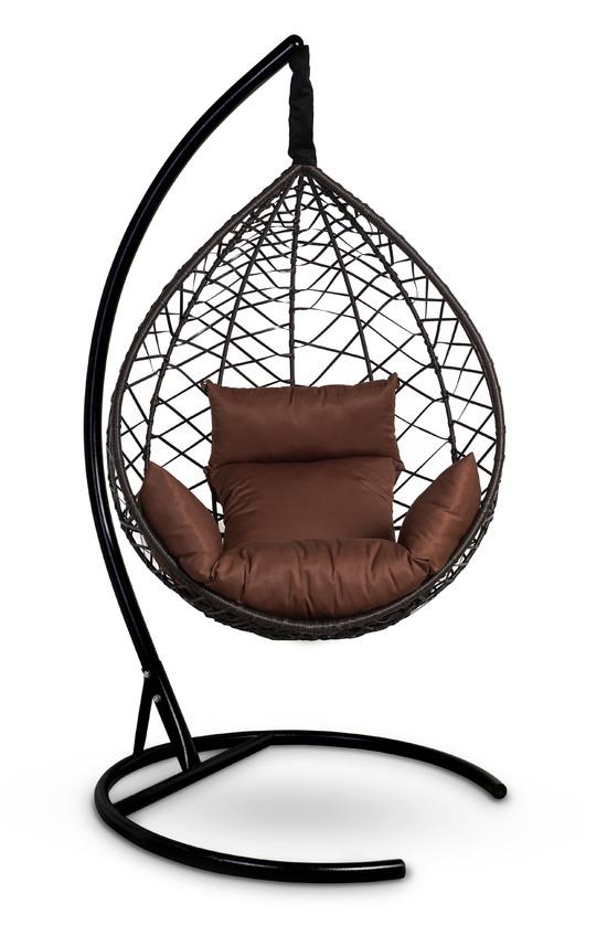 Фото №7 Подвесное кресло-кокон ALICANTE коричневое + каркас