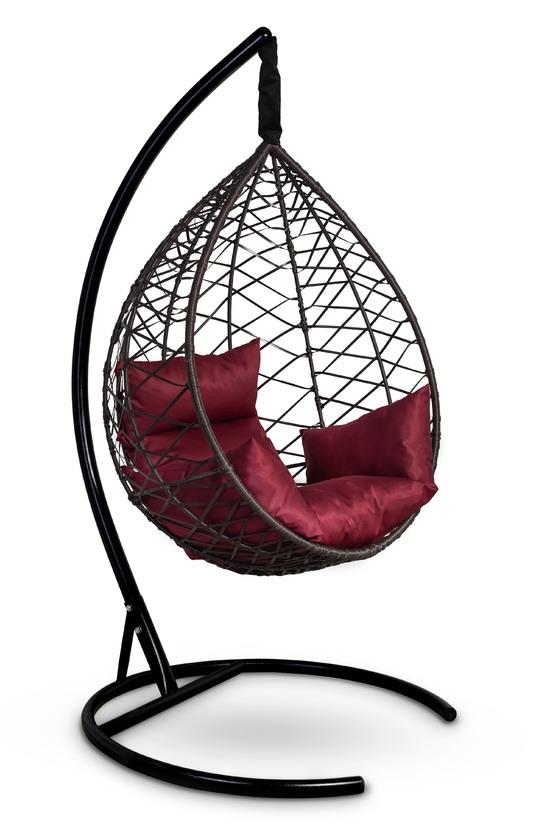 Фото №2 Подвесное кресло-кокон ALICANTE коричневое + каркас