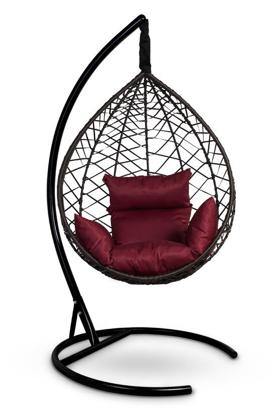 Фото №3 Подвесное кресло-кокон ALICANTE коричневое + каркас