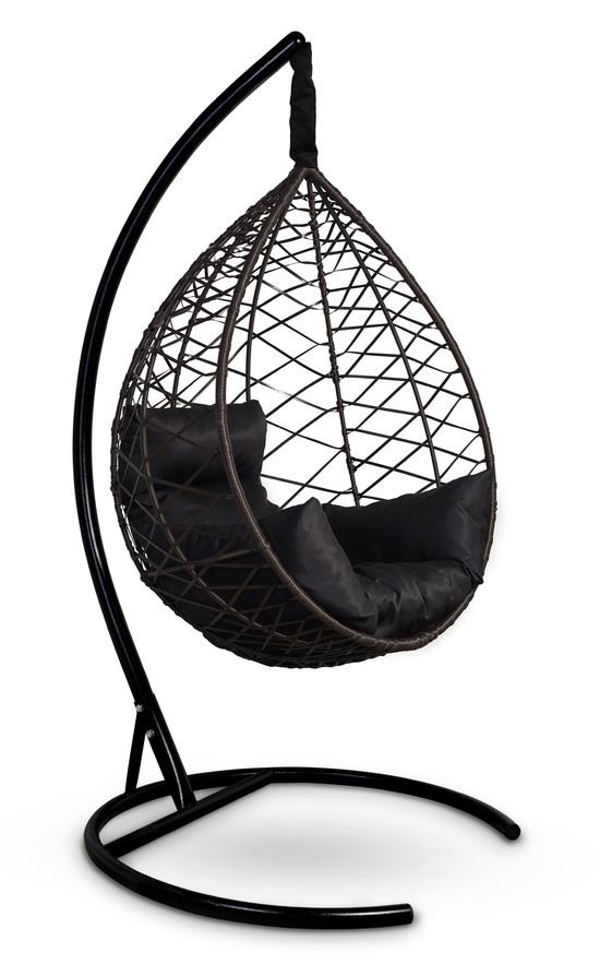Фото №8 Подвесное кресло-кокон ALICANTE коричневое + каркас