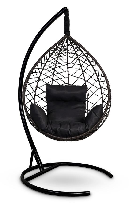 Фото №9 Подвесное кресло-кокон ALICANTE коричневое + каркас