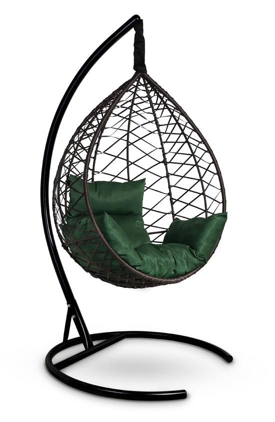 Фото №10 Подвесное кресло-кокон ALICANTE коричневое + каркас