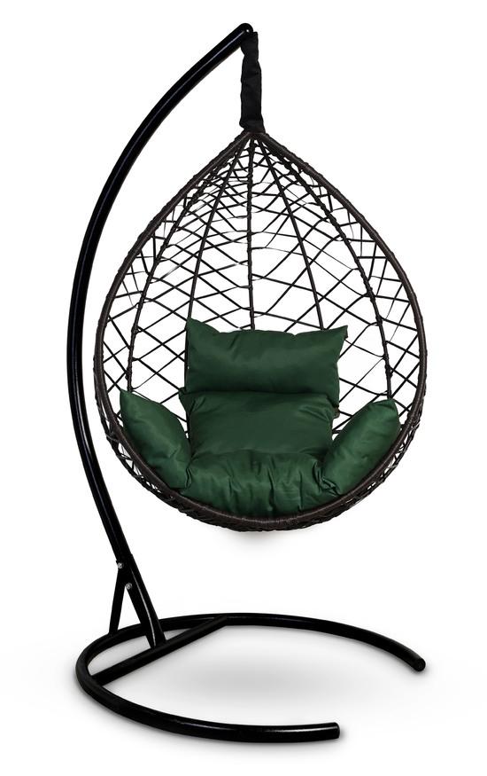 Фото №11 Подвесное кресло-кокон ALICANTE коричневое + каркас