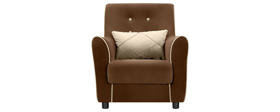 Фото №2 Кресло мягкое ФЛЭТФОРД (темно-коричневое)