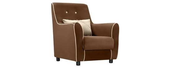 Фото №3 Кресло мягкое ФЛЭТФОРД (темно-коричневое)
