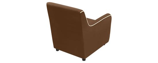 Фото №4 Кресло мягкое ФЛЭТФОРД (темно-коричневое)
