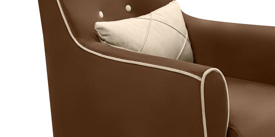 Фото №6 Кресло мягкое ФЛЭТФОРД (темно-коричневое)