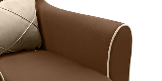 Фото №7 Кресло мягкое ФЛЭТФОРД (темно-коричневое)