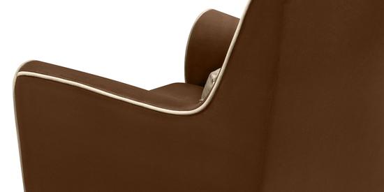 Фото №8 Кресло мягкое ФЛЭТФОРД (темно-коричневое)