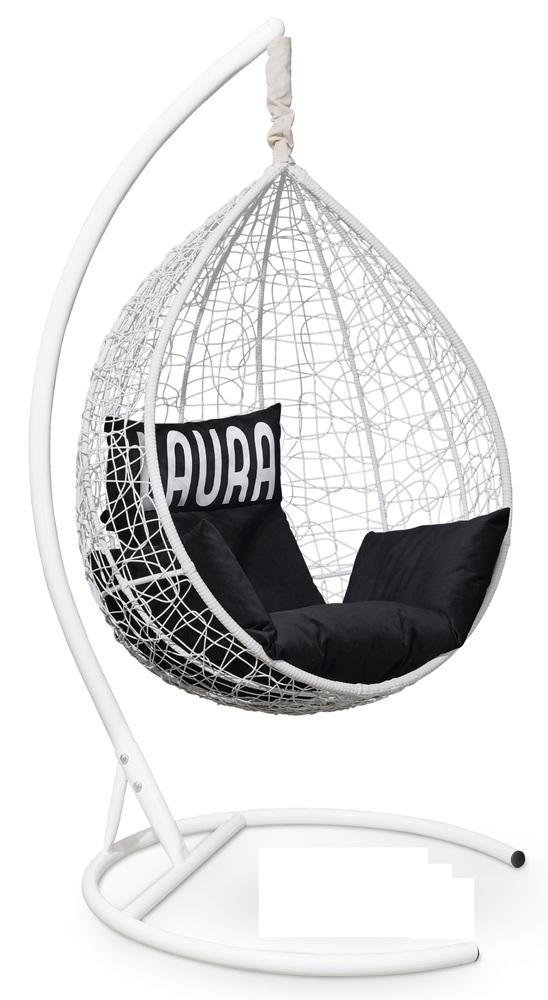 Фото №9 Подвесное кресло SEVILLA VELOUR белое + каркас
