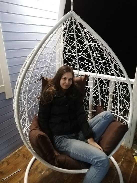 Фото №8 Подвесное кресло SEVILLA VELOUR белое