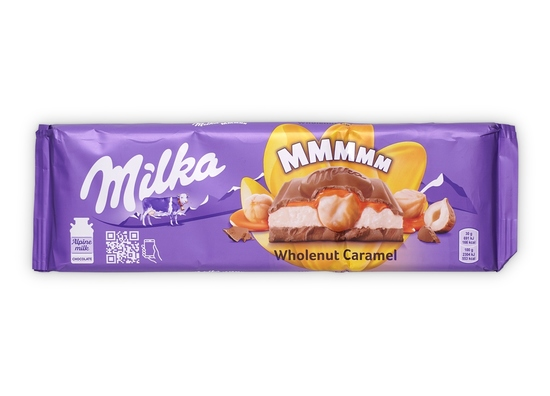 Фото №3 Шоколад Milka Wholenut Caramel 300 г