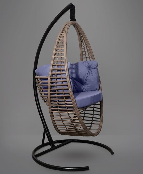Фото №5 Подвесное кресло-кокон Derbent коричневое + каркас
