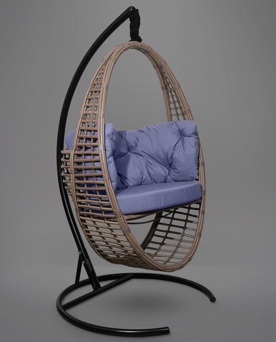 Фото №6 Подвесное кресло-кокон Derbent коричневое + каркас