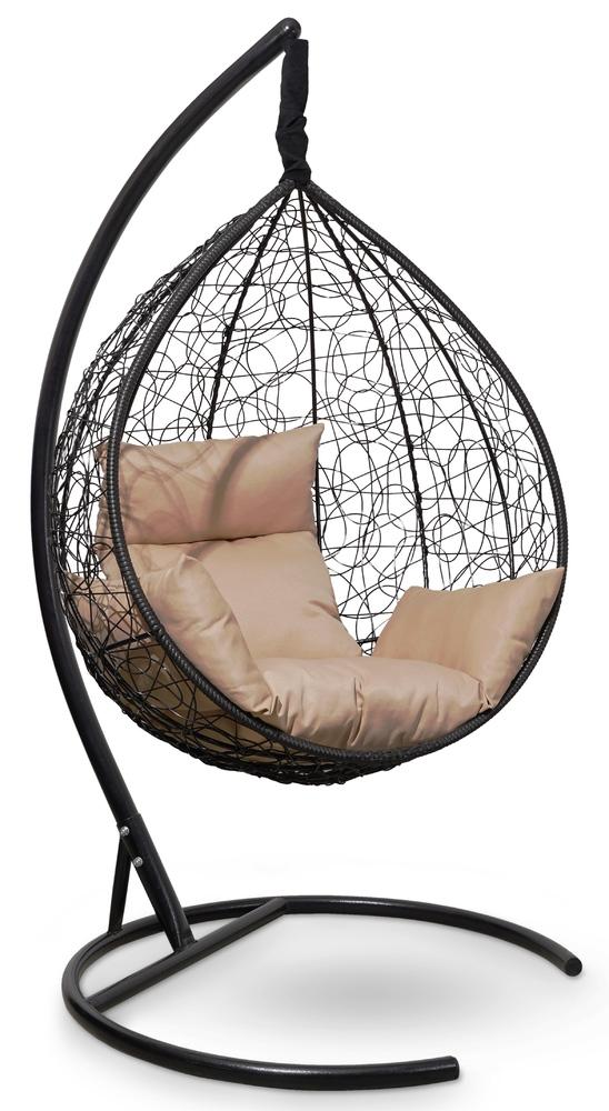 Фото №6 Подвесное кресло-кокон SEVILLA черное + каркас
