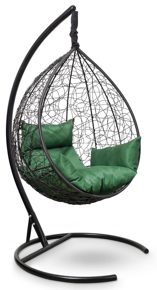 Фото №5 Подвесное кресло-кокон SEVILLA черное + каркас