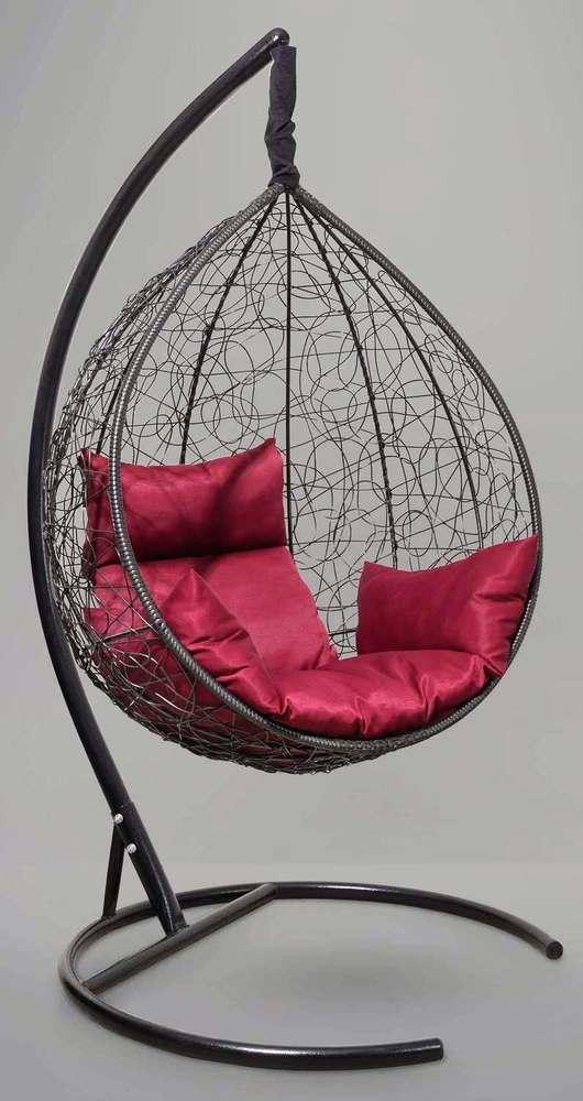 Фото №8 Подвесное кресло-кокон SEVILLA черное + каркас
