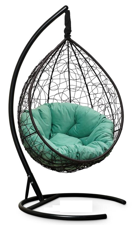 Фото №4 Подвесное кресло SEVILLA VERDE VELOUR коричневое + каркас