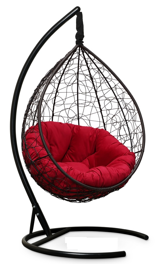 Фото №7 Подвесное кресло SEVILLA VERDE VELOUR коричневое + каркас
