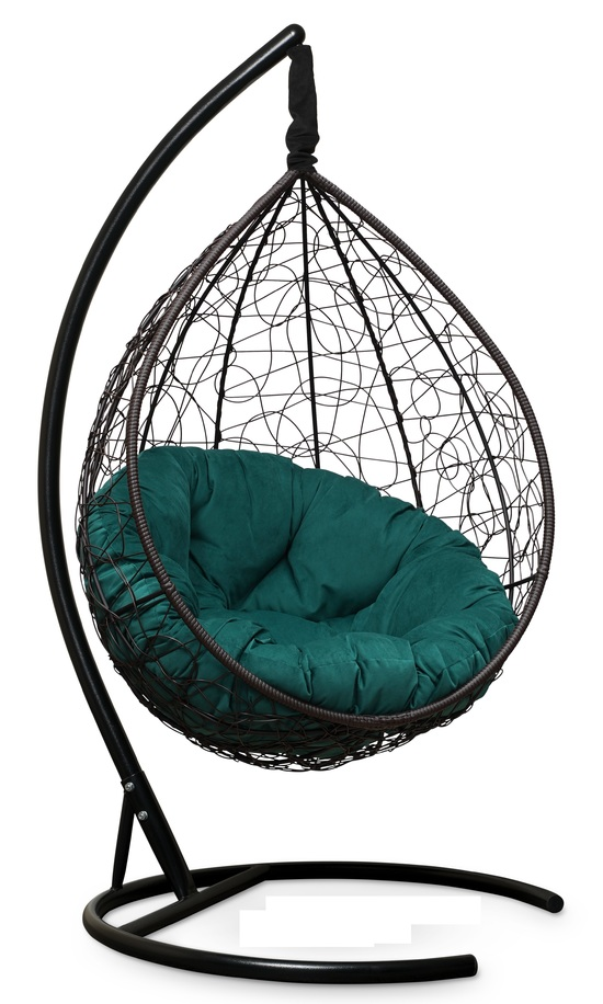 Фото №9 Подвесное кресло SEVILLA VERDE VELOUR коричневое + каркас