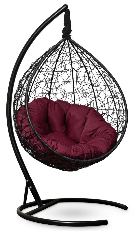 Фото №3 Подвесное кресло SEVILLA VERDE черное + каркас