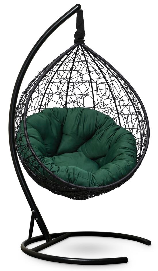 Фото №4 Подвесное кресло SEVILLA VERDE черное + каркас