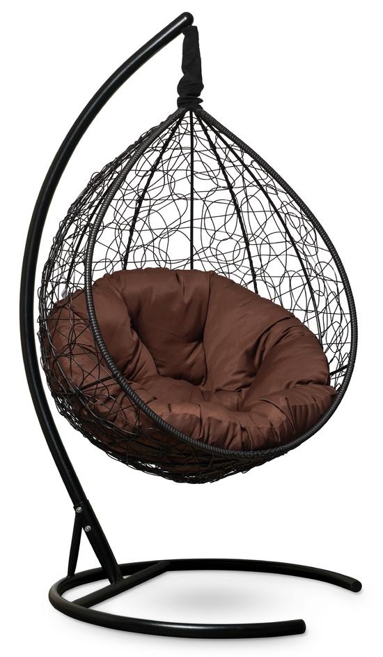 Фото №5 Подвесное кресло SEVILLA VERDE черное + каркас