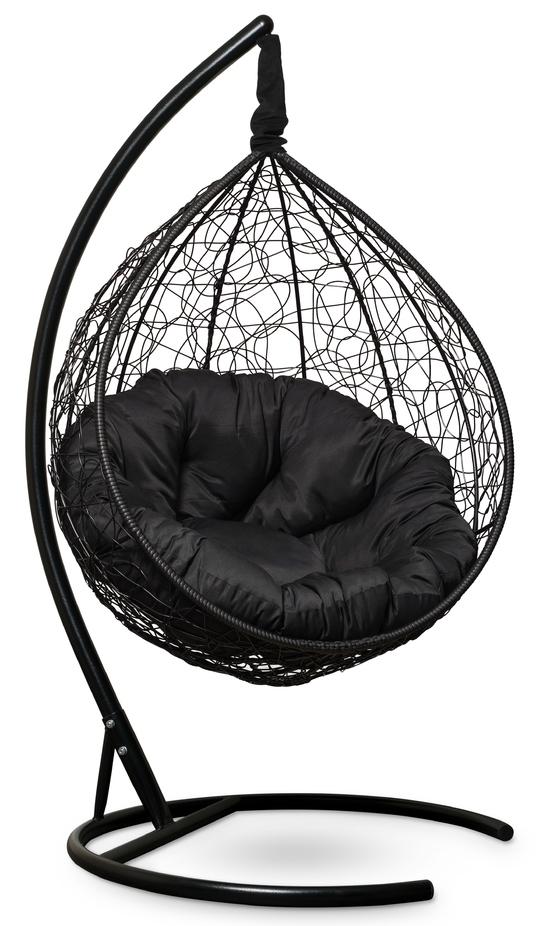 Фото №6 Подвесное кресло SEVILLA VERDE черное + каркас