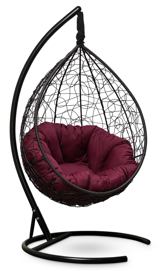 Фото №3 Подвесное кресло SEVILLA VERDE коричневое + каркас