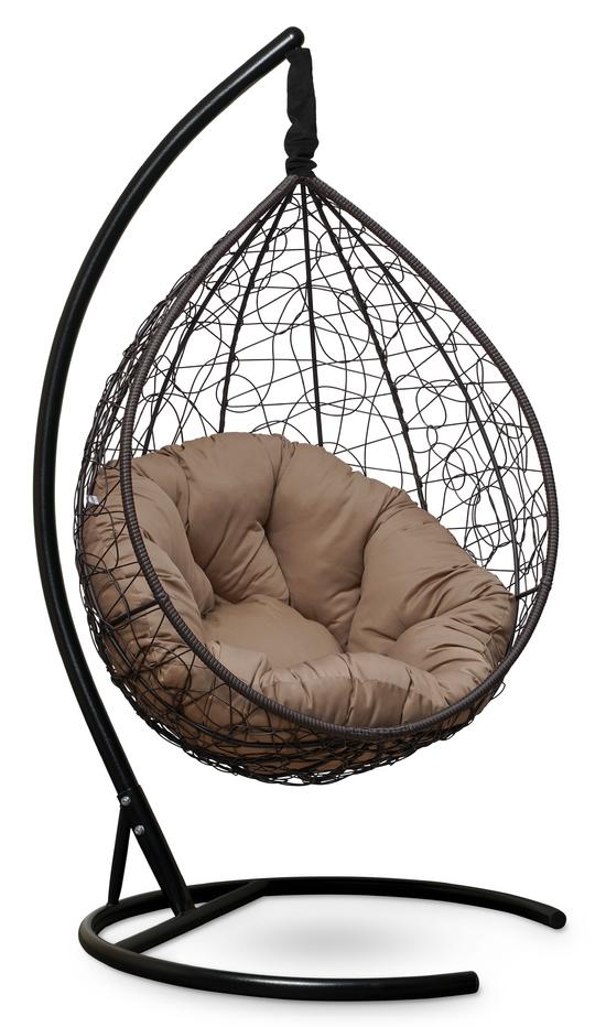 Фото №6 Подвесное кресло SEVILLA VERDE коричневое + каркас
