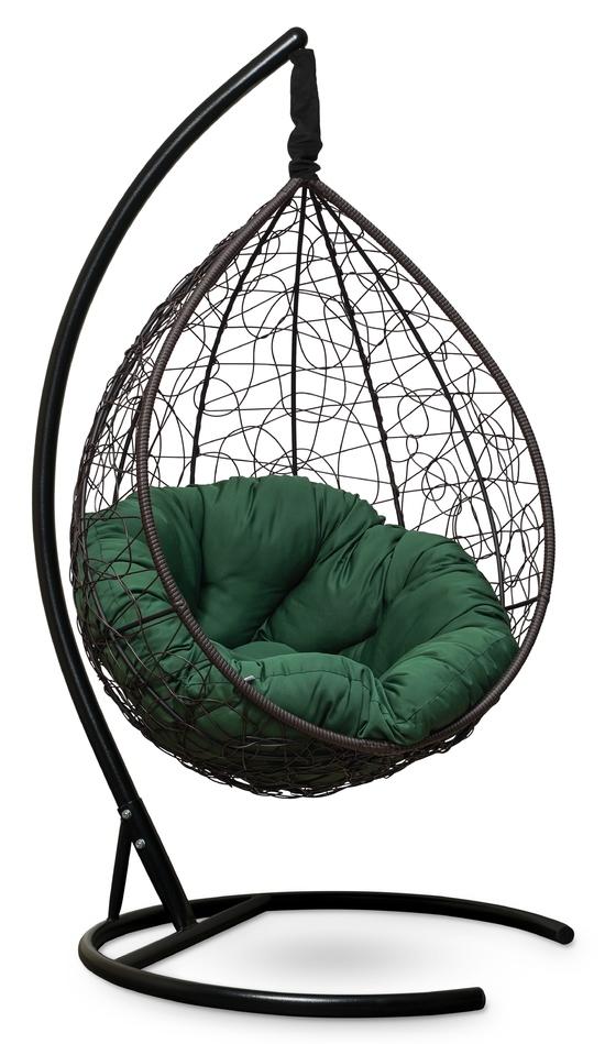 Фото №4 Подвесное кресло SEVILLA VERDE коричневое + каркас