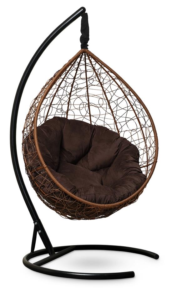 Фото №5 Подвесное кресло SEVILLA VERDE VELOUR горячий шоколад + каркас