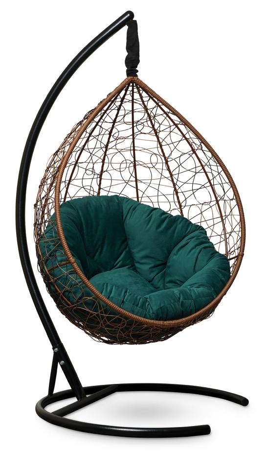 Фото №3 Подвесное кресло SEVILLA VERDE VELOUR горячий шоколад + каркас