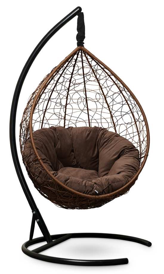 Фото №8 Подвесное кресло SEVILLA VERDE VELOUR горячий шоколад + каркас