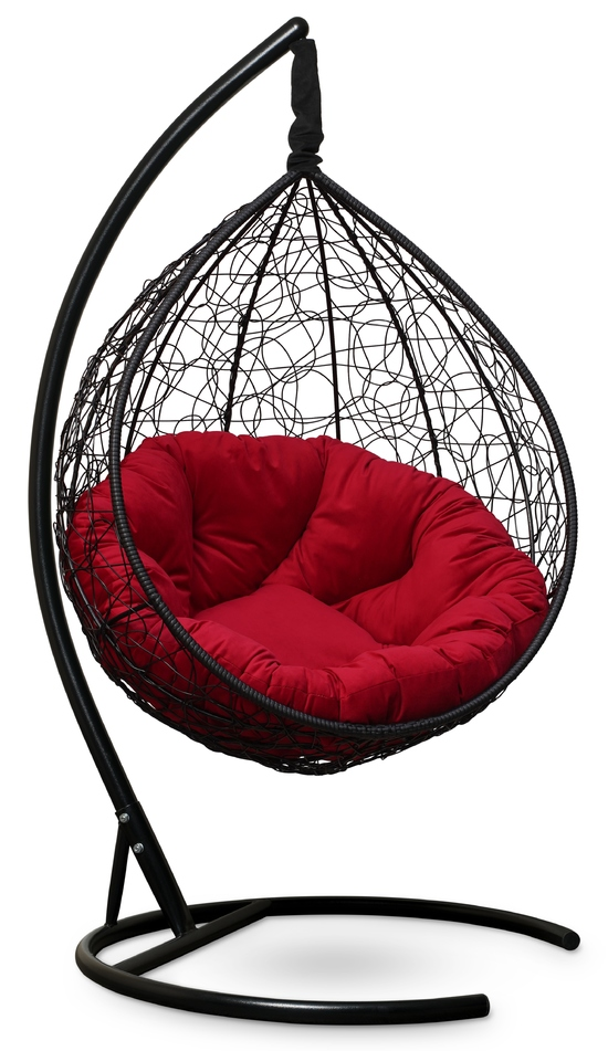 Фото №6 Подвесное кресло SEVILLA VERDE VELOUR черное + каркас
