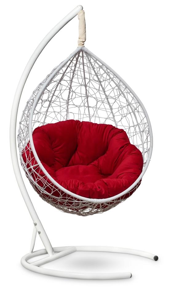 Фото №9 Подвесное кресло SEVILLA VERDE VELOUR белое + каркас