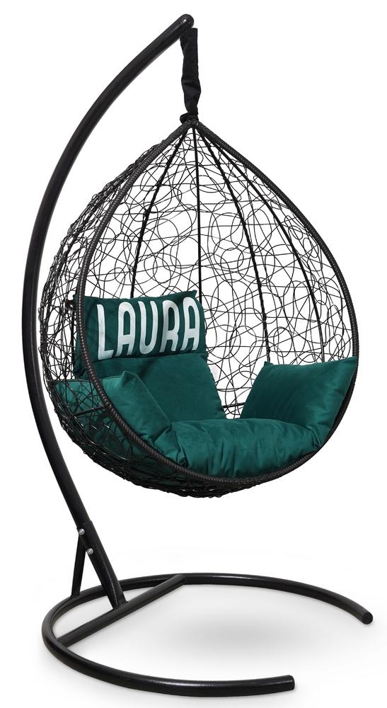 Фото №5 Подвесное кресло SEVILLA VELOUR черное + каркас