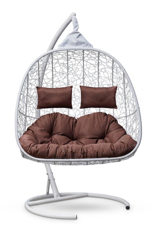 Фото №5 Подвесное кресло-кокон SEVILLA TWIN белое + каркас