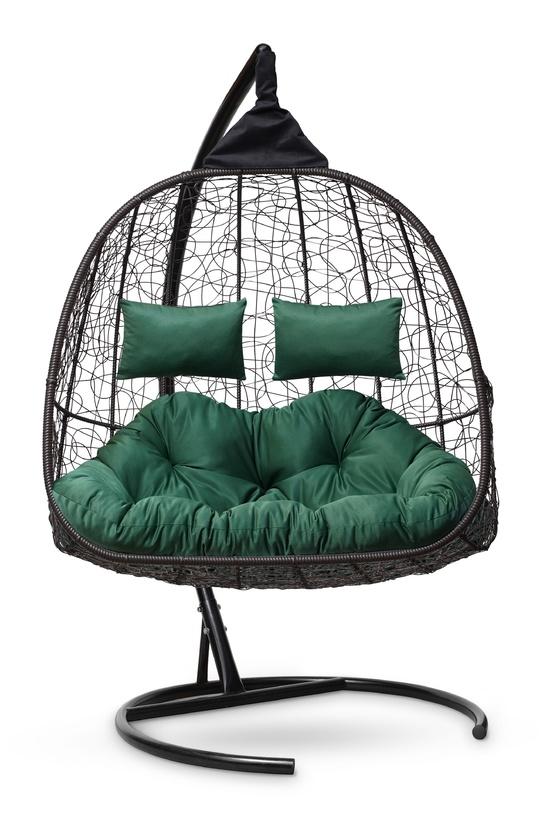 Фото №2 Подвесное кресло-кокон SEVILLA TWIN коричневое + каркас