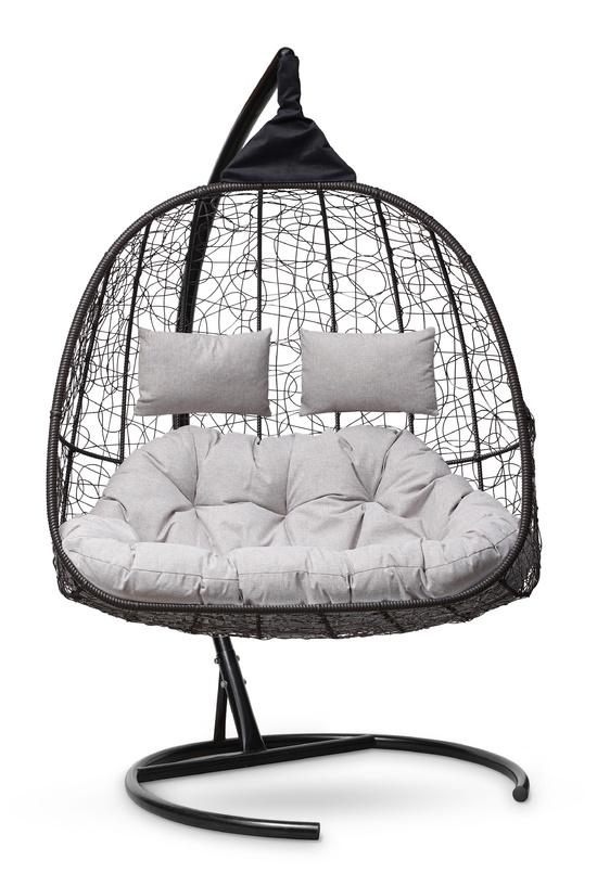 Фото №8 Подвесное кресло-кокон SEVILLA TWIN коричневое + каркас