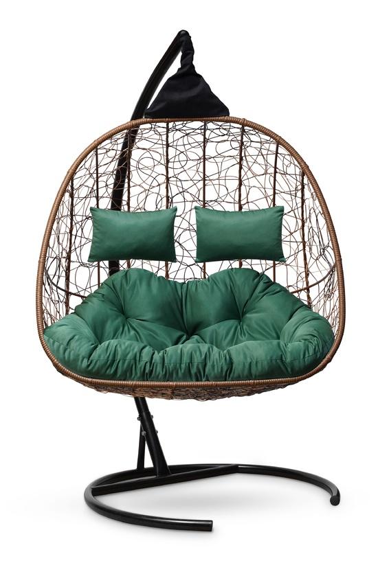 Фото №7 Подвесное кресло-кокон SEVILLA TWIN горячий шоколад + каркас