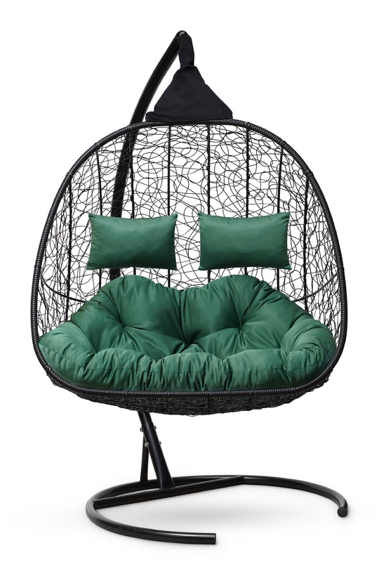 Фото №6 Подвесное кресло-кокон SEVILLA TWIN черное + каркас