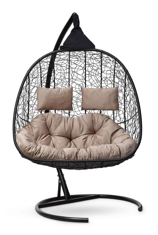 Фото №7 Подвесное кресло-кокон SEVILLA TWIN черное + каркас